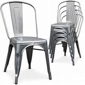 Chaise Metal Tolix : pin m tal empilables tolix chaise de bar tabouret de bar pas cher on pinterest ~ Teatrodelosmanantiales.com Idées de Décoration