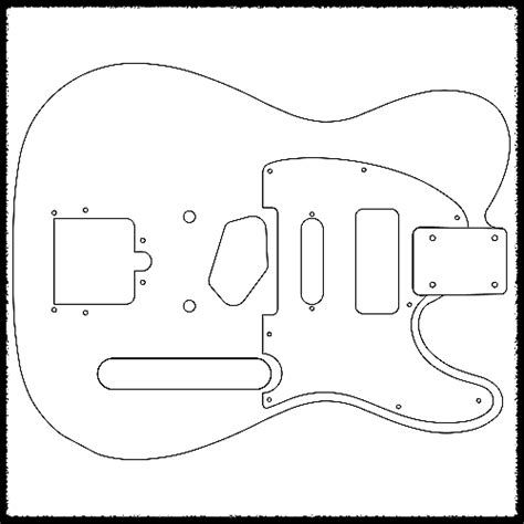 telecaster template telecaster guitar routing templates 1 4 quot clear acrylic reverb