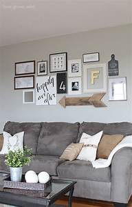 Living room gallery wall love grows wild for Decorating a living room wall