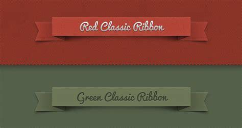 psd ribbon classic set psd web elements pixeden