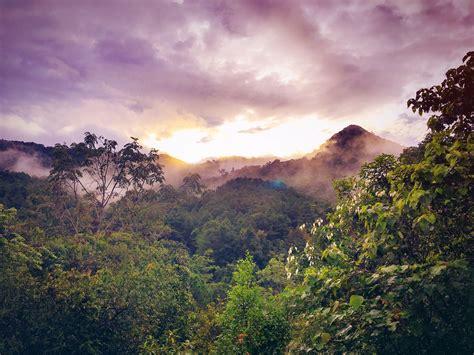 brown mountain  cloudy sky  sunset  stock
