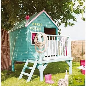 Maison En Bois Enfant : maisonnette en bois solde cabanes abri jardin ~ Nature-et-papiers.com Idées de Décoration