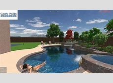 Contemporary, tropical pool, spa, waterfall modern grotto