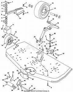 Gravely 50465 72 U0026quot  Deck Rd Pm400 Parts Diagram For Gauge Wheels  Rollers And Height Adjustment