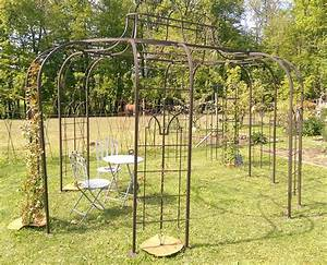 gloriette fer forge fashion designs With beautiful tonnelle de jardin fer forge 7 tonnelles et pergolas jardi brico