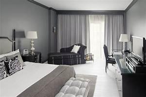 la chambre grise 40 idees pour la deco With idee deco chambre grise
