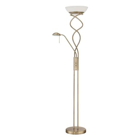vintage torchiere l shades shop kendal lighting 72 in antique brass torchiere with