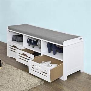 sobuyr commode a chaussure meuble d39entree banc de With meuble d entree avec banc