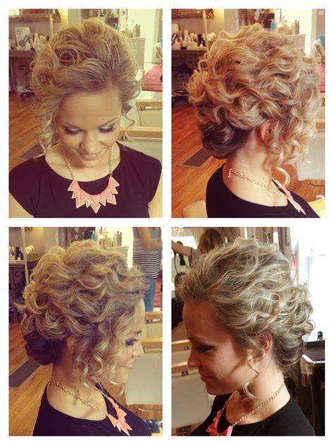 curly hair updo ideas  pinterest