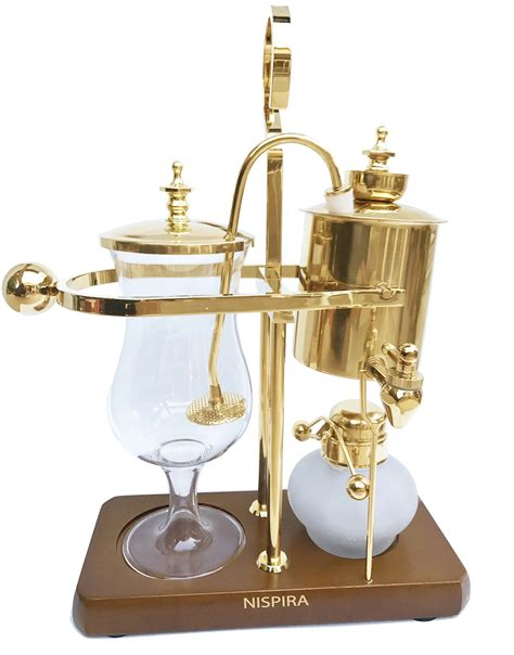 This siphon coffee pot has a 5 cup capacity making it perfect for 3 to 4 people. NISPIRA Belgian Belgium Luxury Royal Family Balance Syphon ...