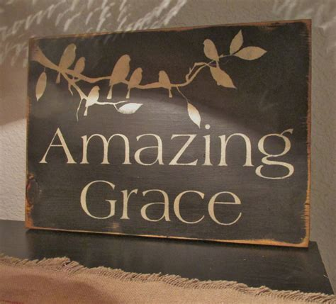 home decor signs shabby chic amazing grace sign primitive shabby chic birds home decor