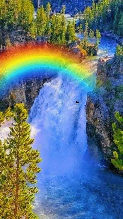 Scenery Nature Cool Mountain Landscapes Magical Waterfall