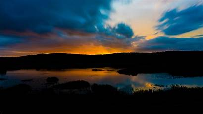 4k Dark Sunset Landscape River Twilight Uhd