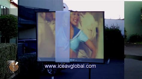worlds brightest daytime projection screen outdoor