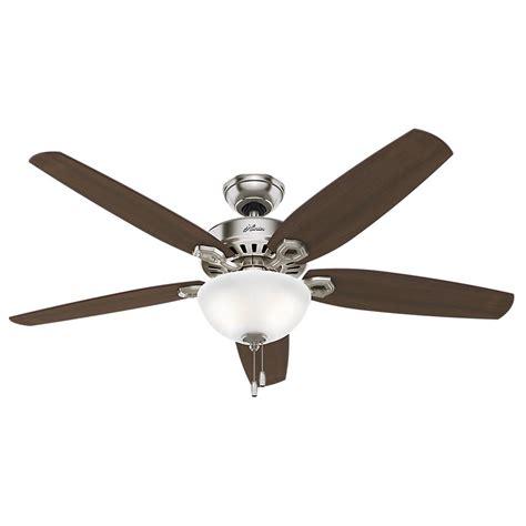 ceiling fans with good lighting hunter builder great room 56 in indoor brushed nickel