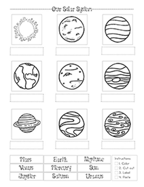 solar system coloring pages the crafty classroom