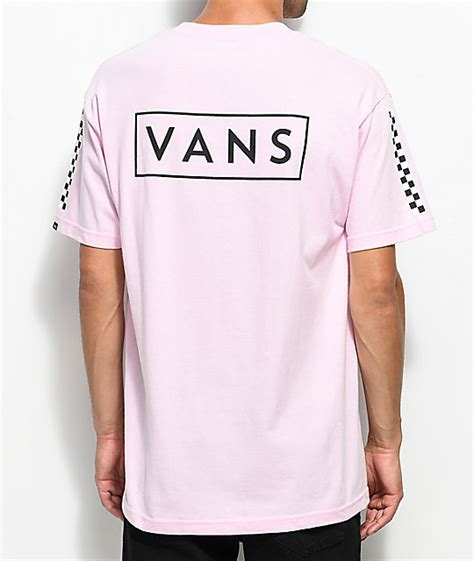 vans checkmate pink t shirt zumiez