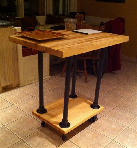 movable butcher block kitchen island diy movable butcher block kitchen island food cart 7044