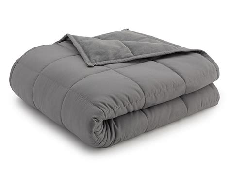 Weighted Anti-Anxiety Blanket (Grey/Grey, 20Lb) | StackSocial