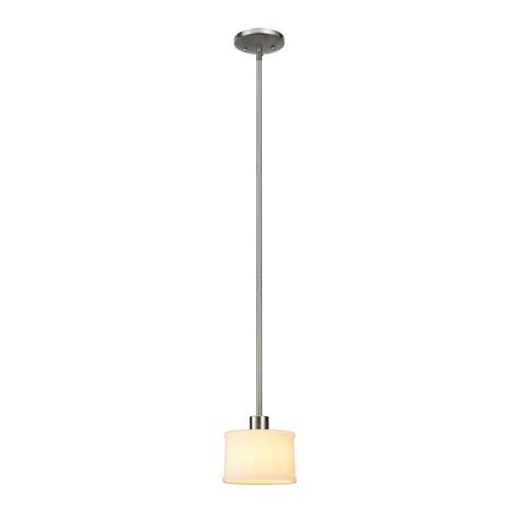 hton bay mayport collection 1 light brushed nickel mini