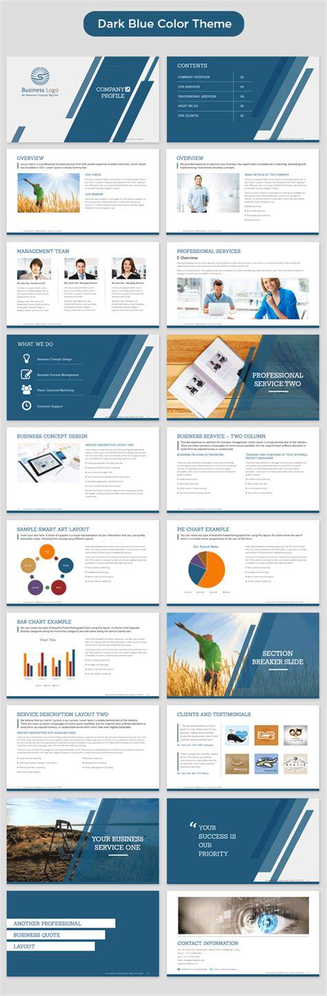 company profile presentation template pdf company profile powerpoint template dark blue preview