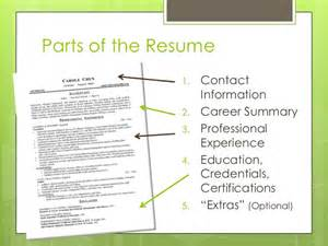 the essential parts of a resume resume workshop