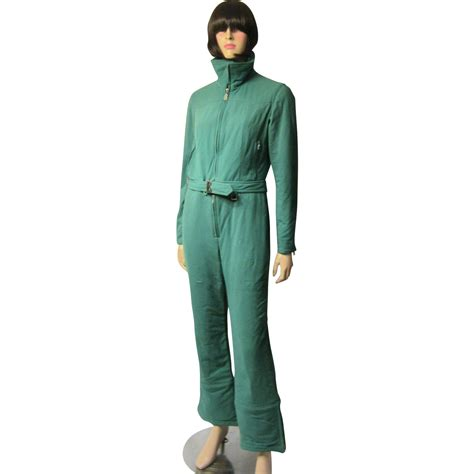 two jumpsuit ski suit by quot bogner quot viridian green ski suit two