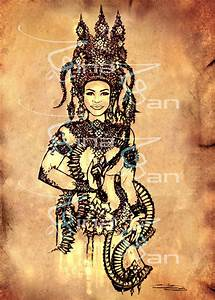 The gallery for --> Khmer Apsara Drawing