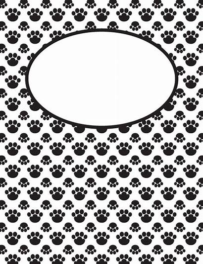 Binder Printable Covers Template Pdf Paw Templates