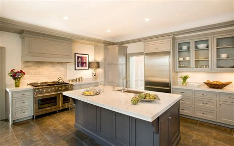 gray crown molding kitchen traditional with painted cabinets georgian revival eat in kitchen