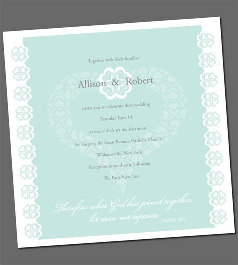 Bible Quotes On Wedding Invitation Card