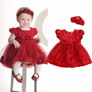 baby toddler girl dress flower princess wedding party With robe tulle bebe