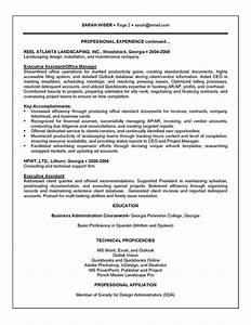 Executive Director Cover Letter Sample Executive Assistant Resume Example Sample