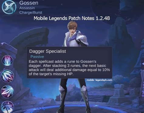 Mobile Legends Patch Notes Version 1.2.48 (advance Server