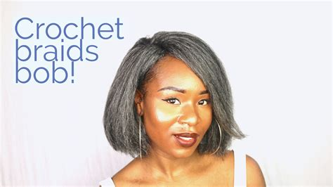 Crochet Braids Grey Kinky Straight Bob!