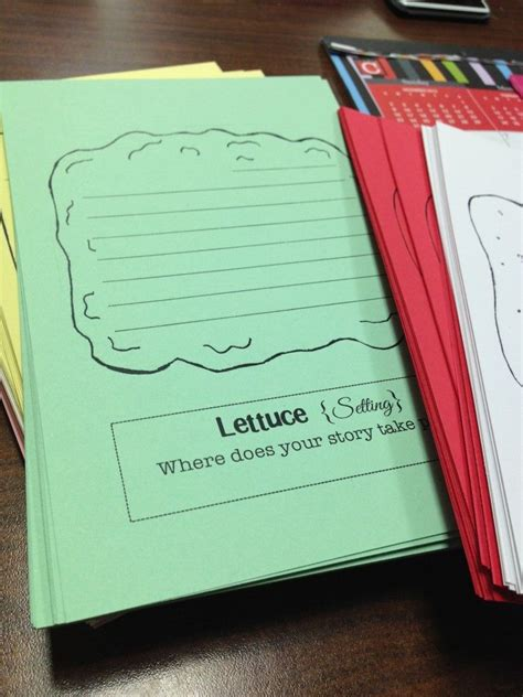 sandwich book report shape printables