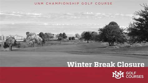 Unm Championship Golf Course To Close Over Winter Break