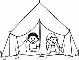 Tent Coloring Camping Pages Circus Drawing Draw Tents Getdrawings Printable Excellent Print Awesome Getcolorings Davemelillo sketch template