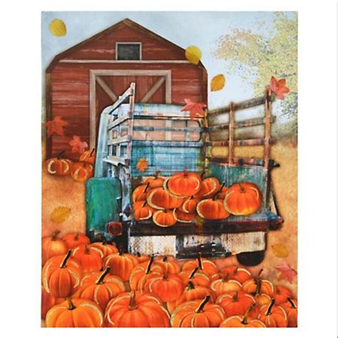truck  pumpkin patch canvas art print trucks pumpkins