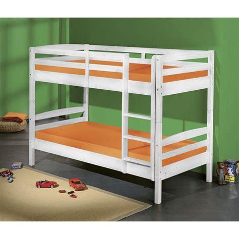 lits superpos 233 s rick 90 x 190 cm bois blanc rick 90 x 190 cm blanc acheter moins cher