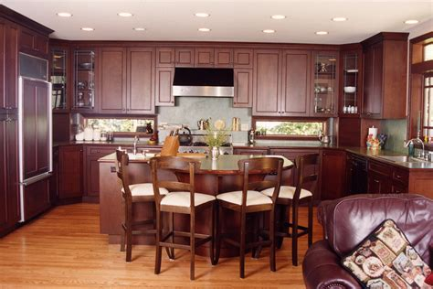wood kitchen cabinets with wood floors what color granite looks best with cherry cabinets 9948