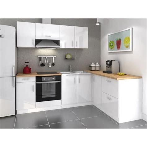 meuble cuisine laqué cosy cuisine complète 280cm laqué blanc achat vente