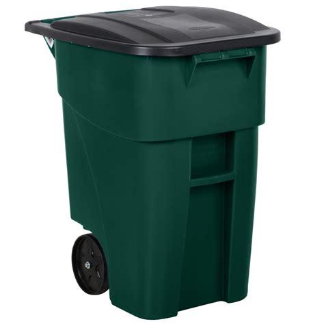 rubbermaid  brute  gallon green rollout trash