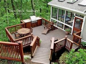 trex patio deck with built in grill trex deck to the