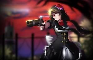 Wallpaper, Girl, Gun, Weapons, Blood, Date, A, Live, Tokisaki, Kurumi, Images, For, Desktop, Section
