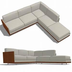 Decca rottet corner sofa 3d model formfonts 3d models for Sectional sofa revit