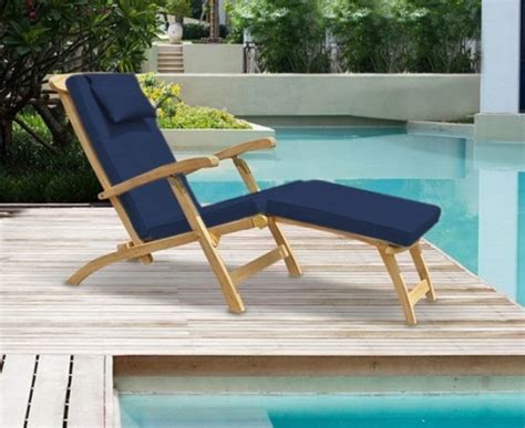 halo teak steamer chair with free cushion teak