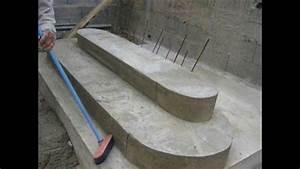 Coffrage Terrasse Beton : construire un escalier en b ton youtube ~ Medecine-chirurgie-esthetiques.com Avis de Voitures