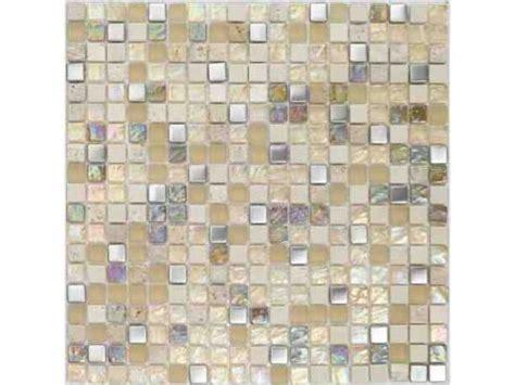 salle de bain mosaique beige paves briques de verres mosa 239 ques et galets malla inox beige plaque de mosa 239 que 30x30 cm