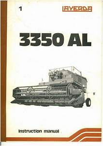 Laverda Combine 3350 Al Operators Manual